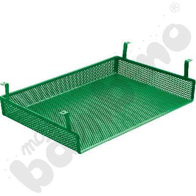Półka metalowa do stołów, do zamocowania pod blatem - zielona