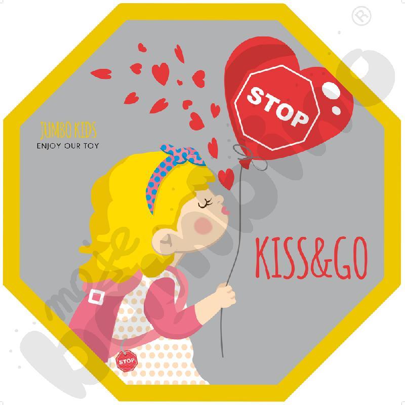 Naklejka podłogowa Kiss and...