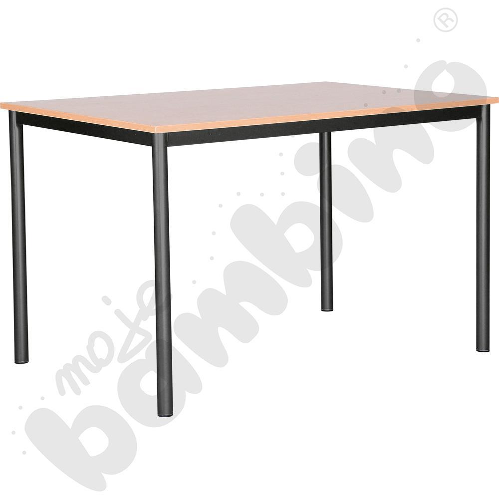 Stół świetlicowy Mila 120 x 80 cm rozm. 6 czarny - buk