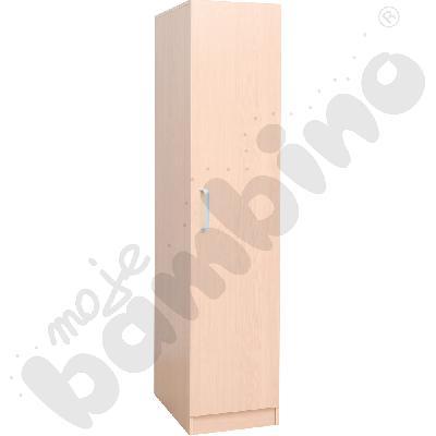 Szafa z drzwiami na pościel i 4 materace - brzoza