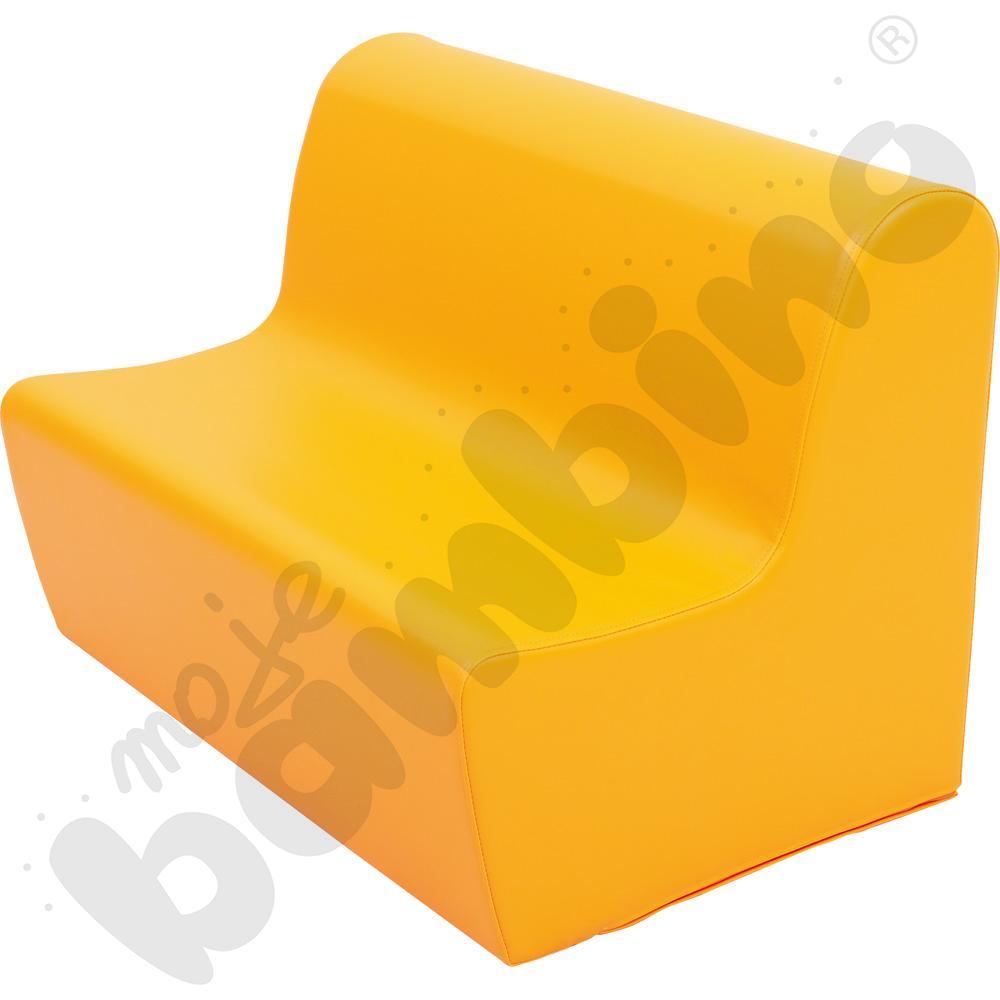Średnia kanapa pomarańczowa