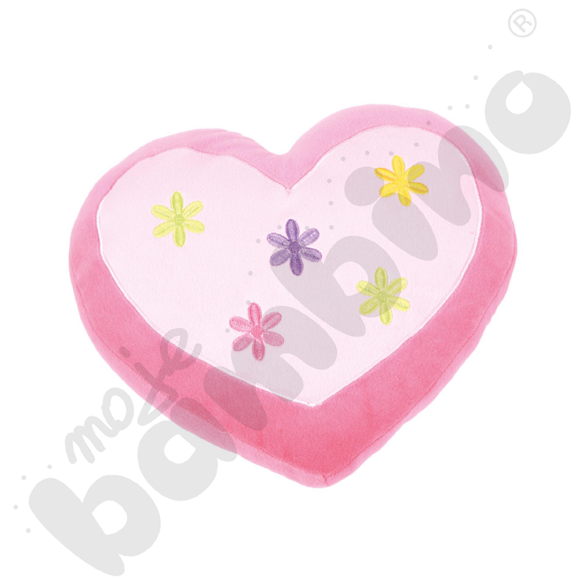Poduszka FLAT serce różowe