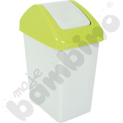 Kosz na śmieci z uchylną pokrywą 25 l, zielony