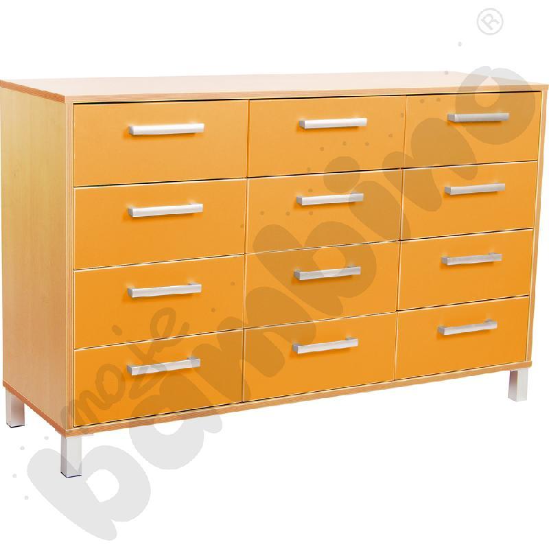 Szafka z szufladami Premium trio - pomarańczowa