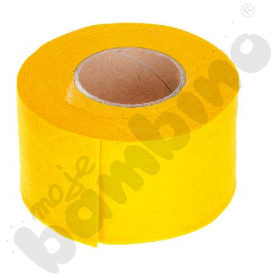 Taśma filcowa - żółta