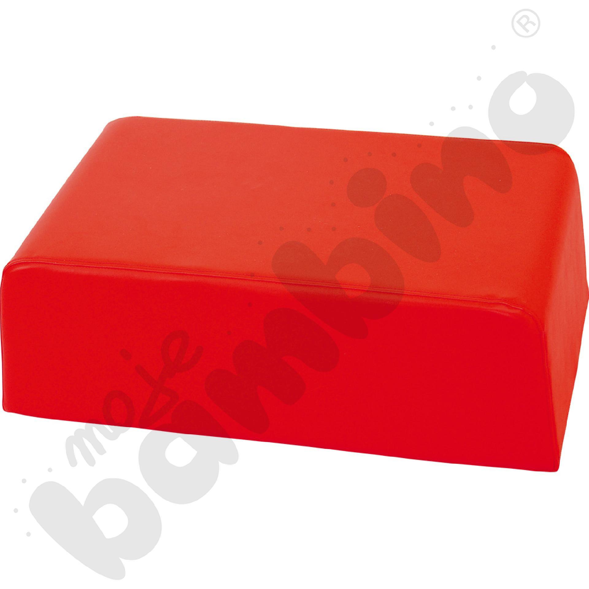Mały miękki stolik czerwony