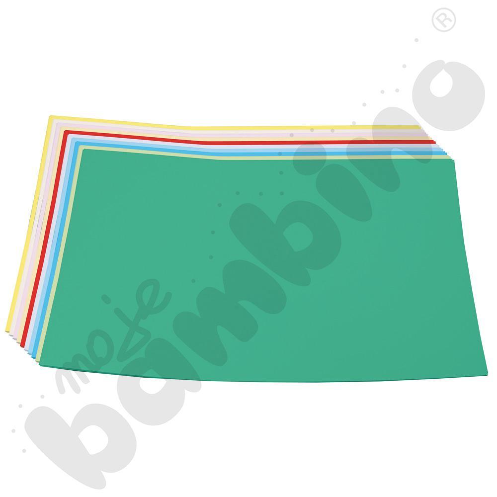 Blok techniczny A4/10k. 10 szt. z kolorowymi kartkami