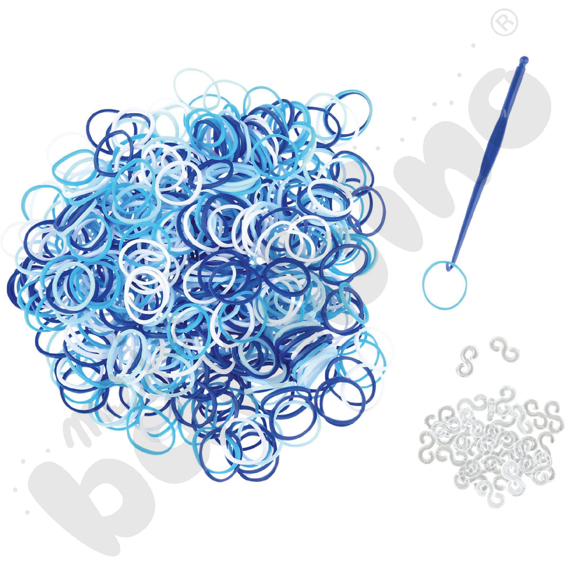 Gumki do bransoletek - niebieskie
