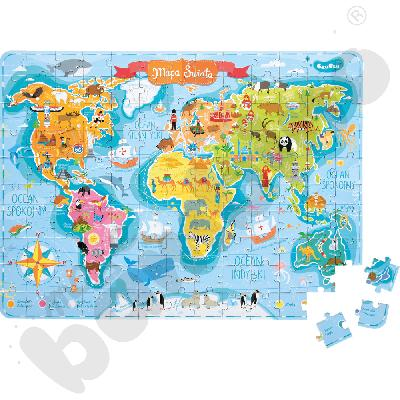Kieszonkowe puzzle - Mapa Świata