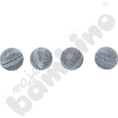 Nakładki dzianinowe do krzeseł - szare,  100 szt., 20-27 mm