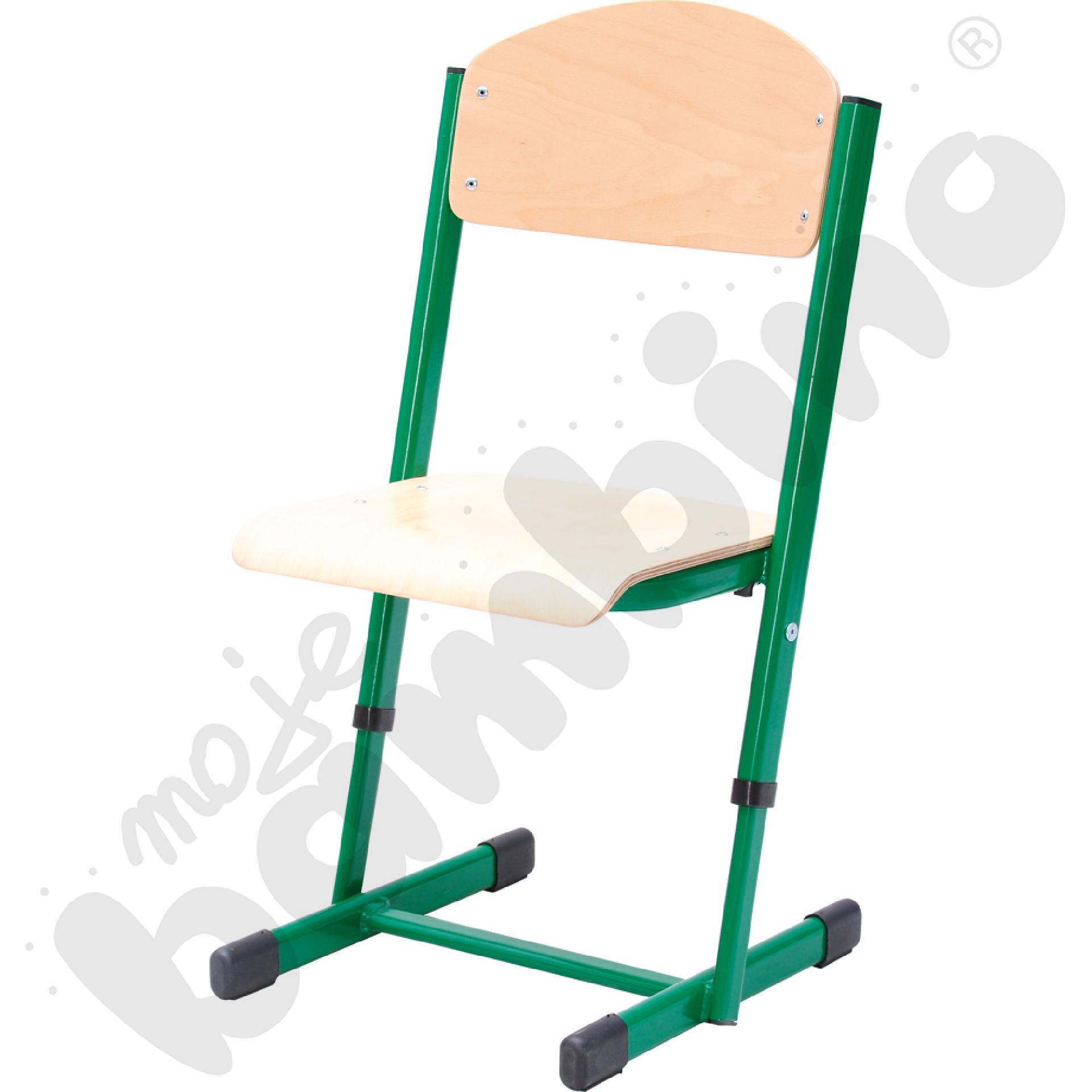 Krzesło T z regulowaną wys. rozm. 2-3 zielone