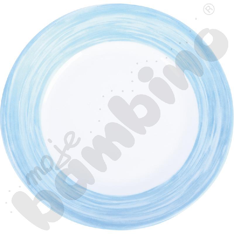 Talerzyk deserowy mały Brush - niebieski