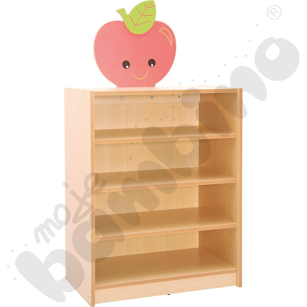 Szafka na pojemniki z tkaniny z aplikacją - Jabłko