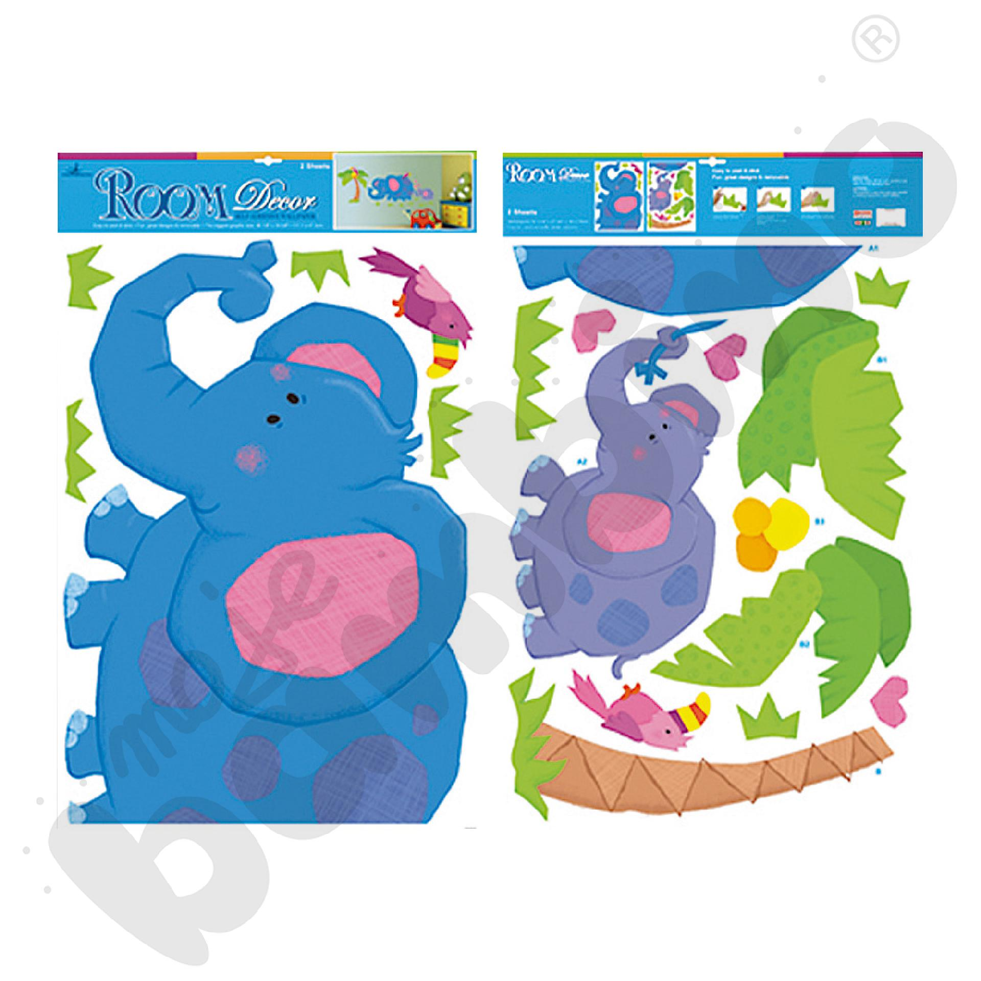 Naklejki na ścianę zwierzęta słoń