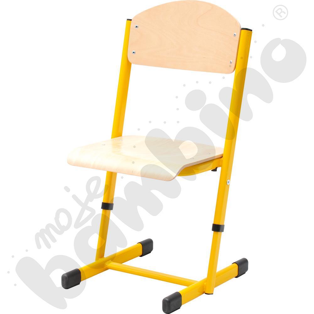 Krzesło T z regulowaną wysokością rozm. 3-4 żółte