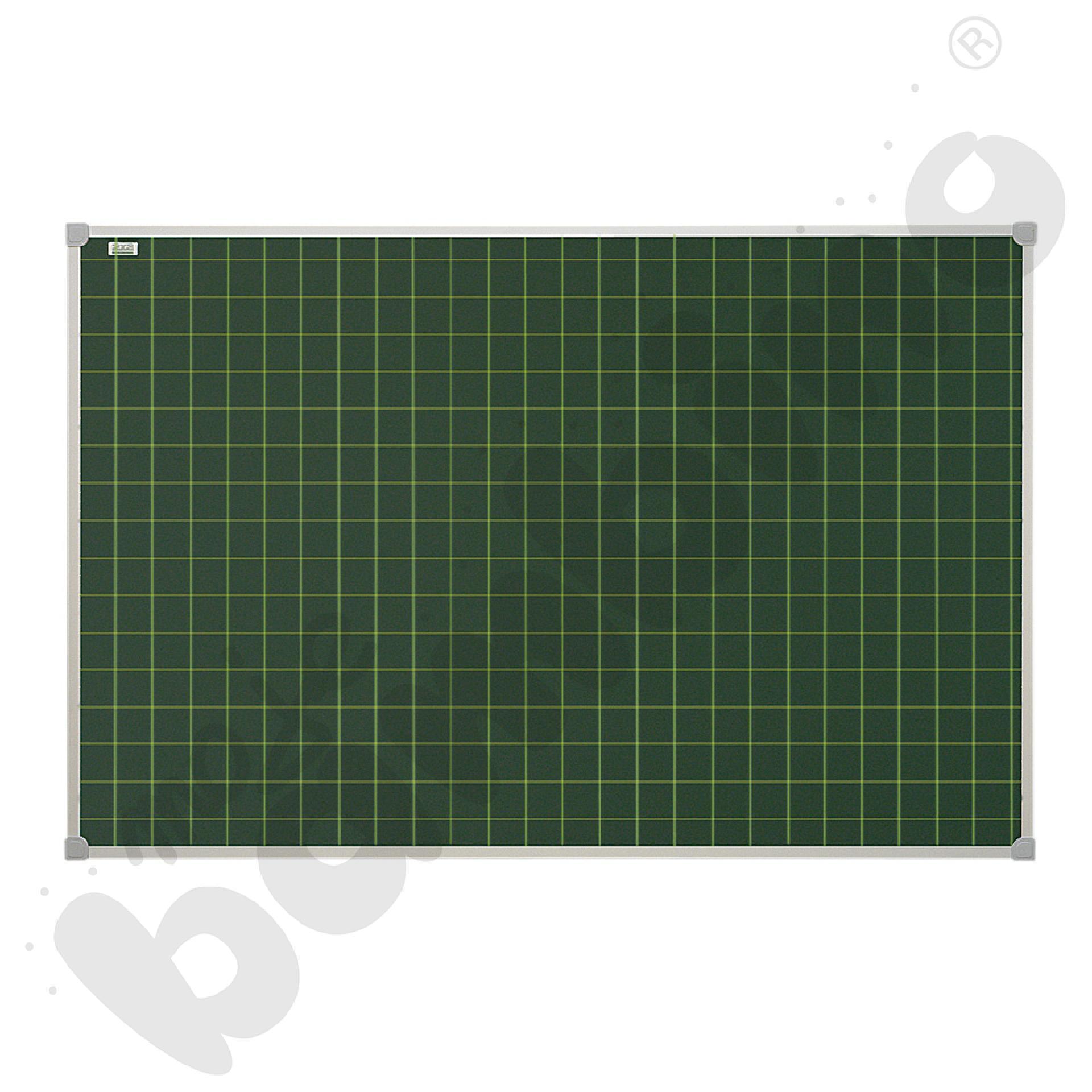 Tablica szkolna pojedyncza zielona w kratkę