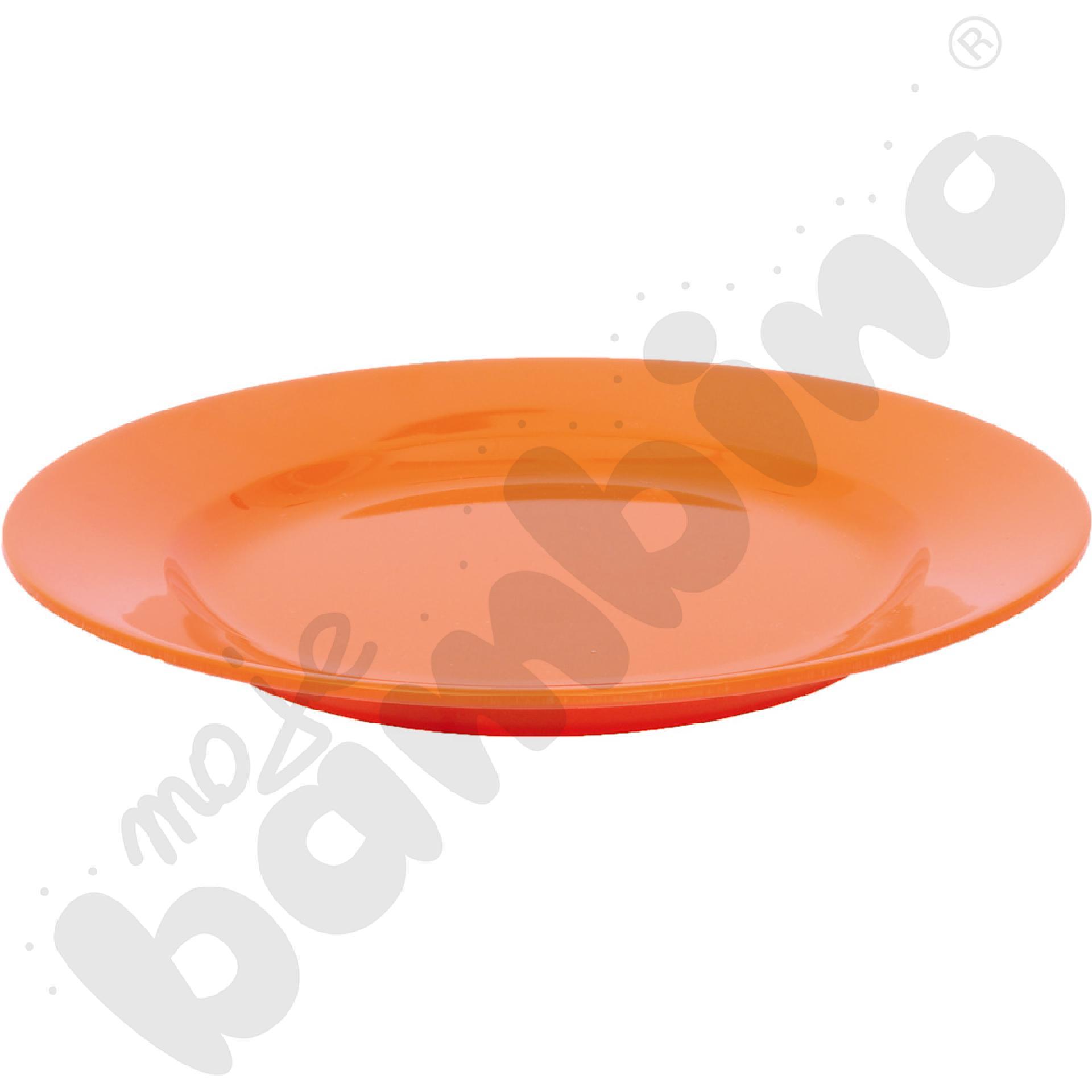 Płytki talerz 23 cm - pomarańczowy