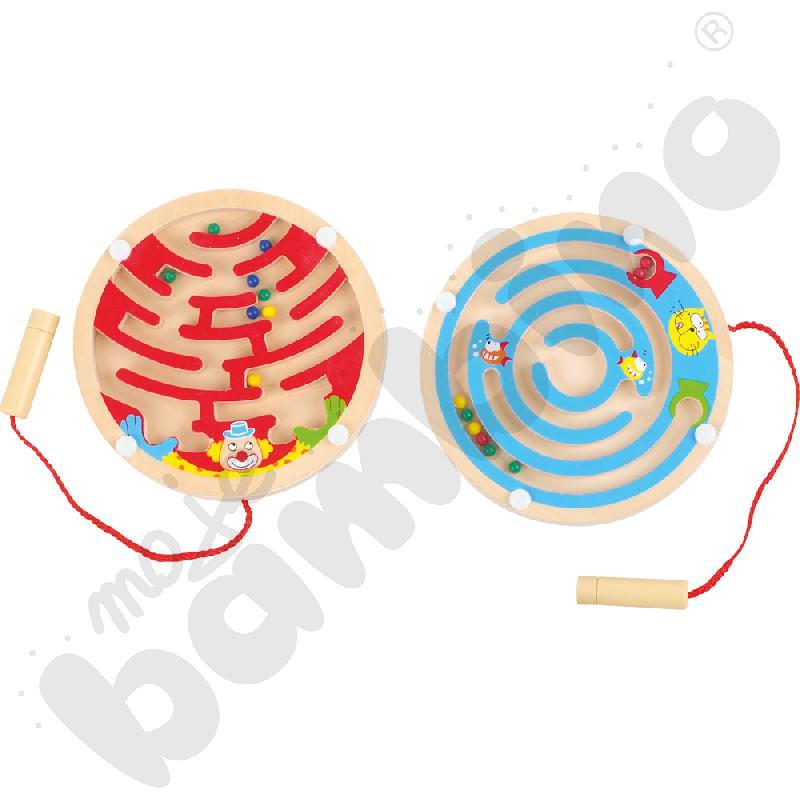 Okrągły magnetyczny labirynt