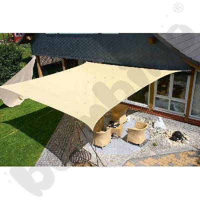 Materiałowy dach ochronny 3,5 x 4,5 m beżowy