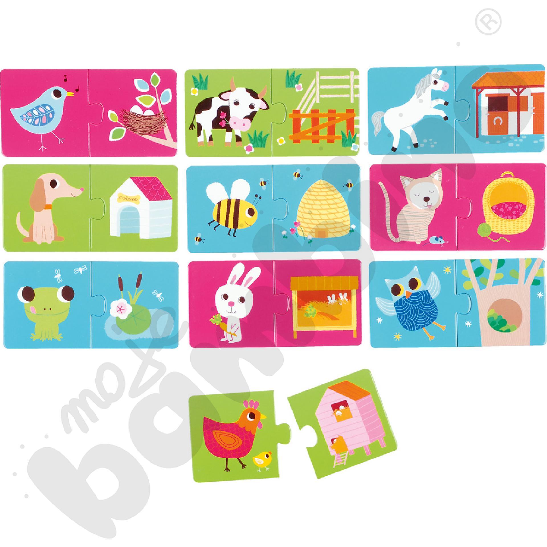 Puzzle duo - zwierzęce siedliska