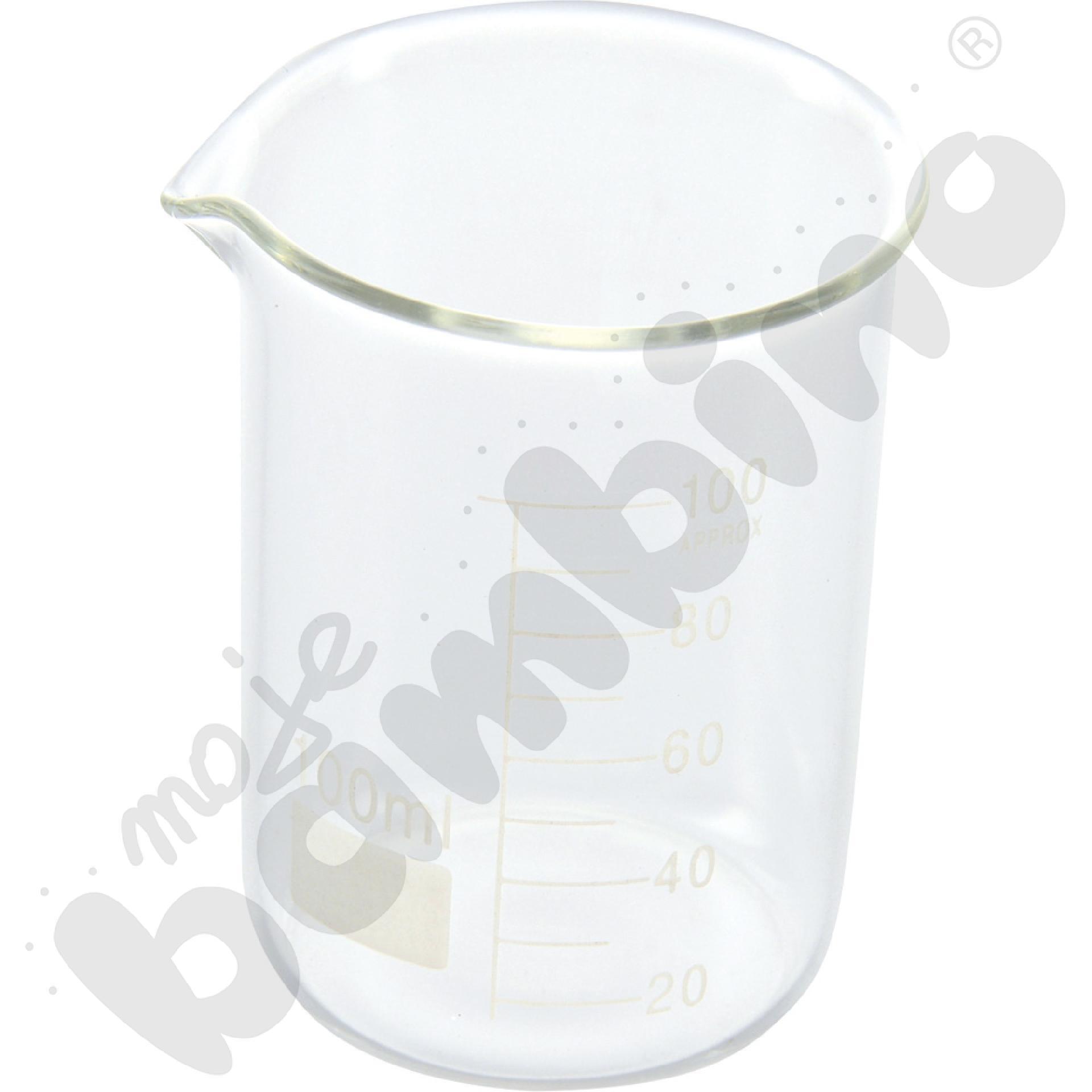 Zlewka niska szklana 100 ml,  10 szt.