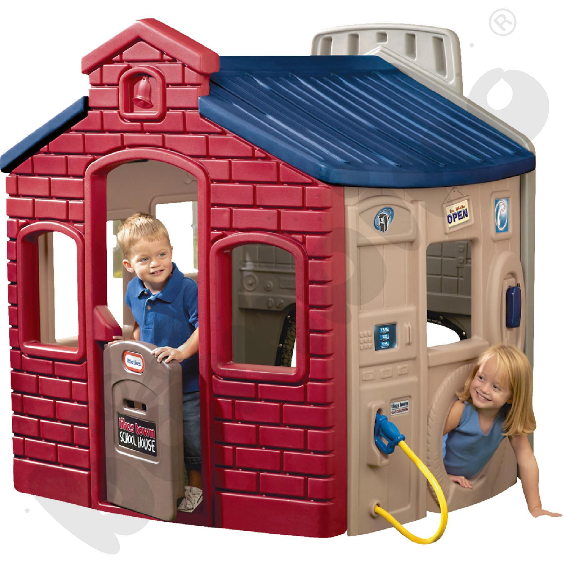 Domek interaktywny czerwony