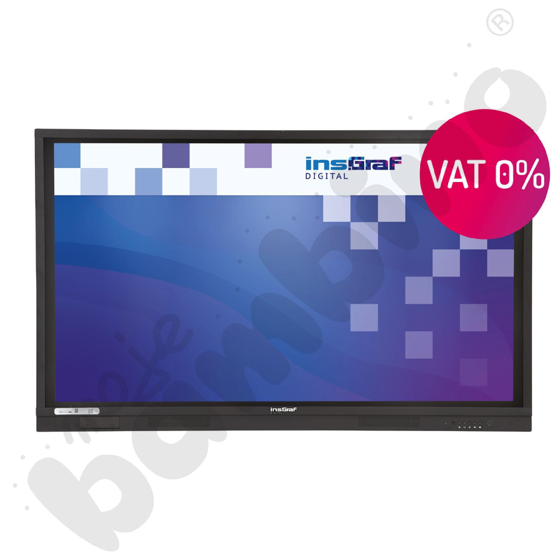 Monitor interaktywny insGraf DIGITAL 65 - 4K UHD