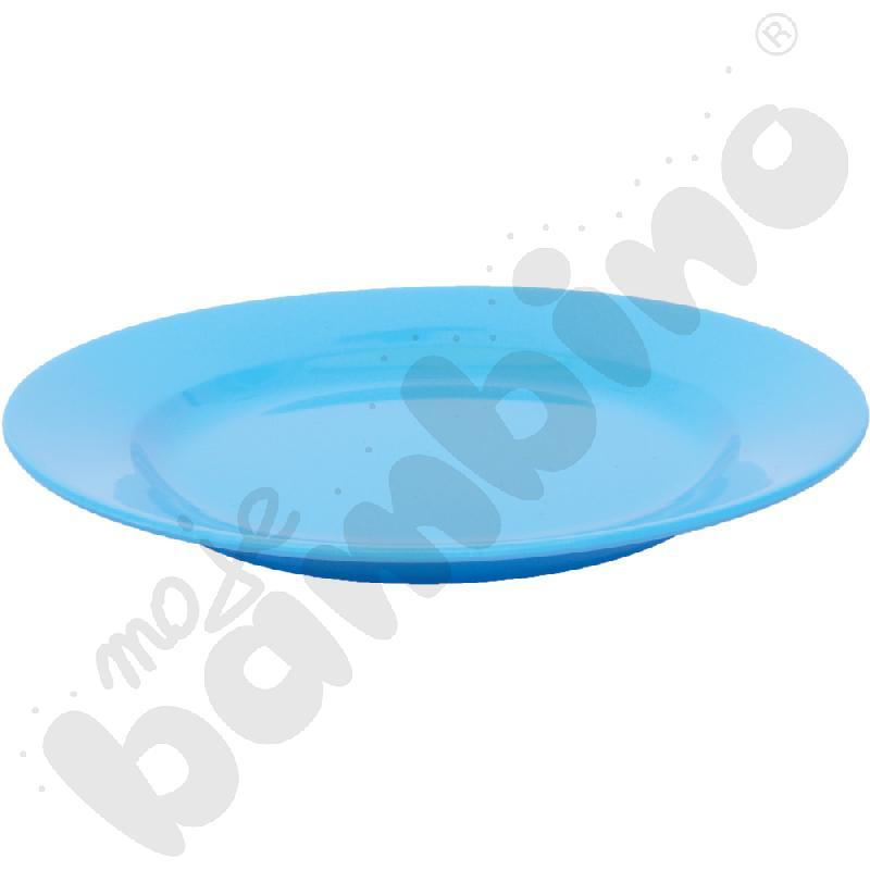 Płytki talerz 23 cm - niebieski