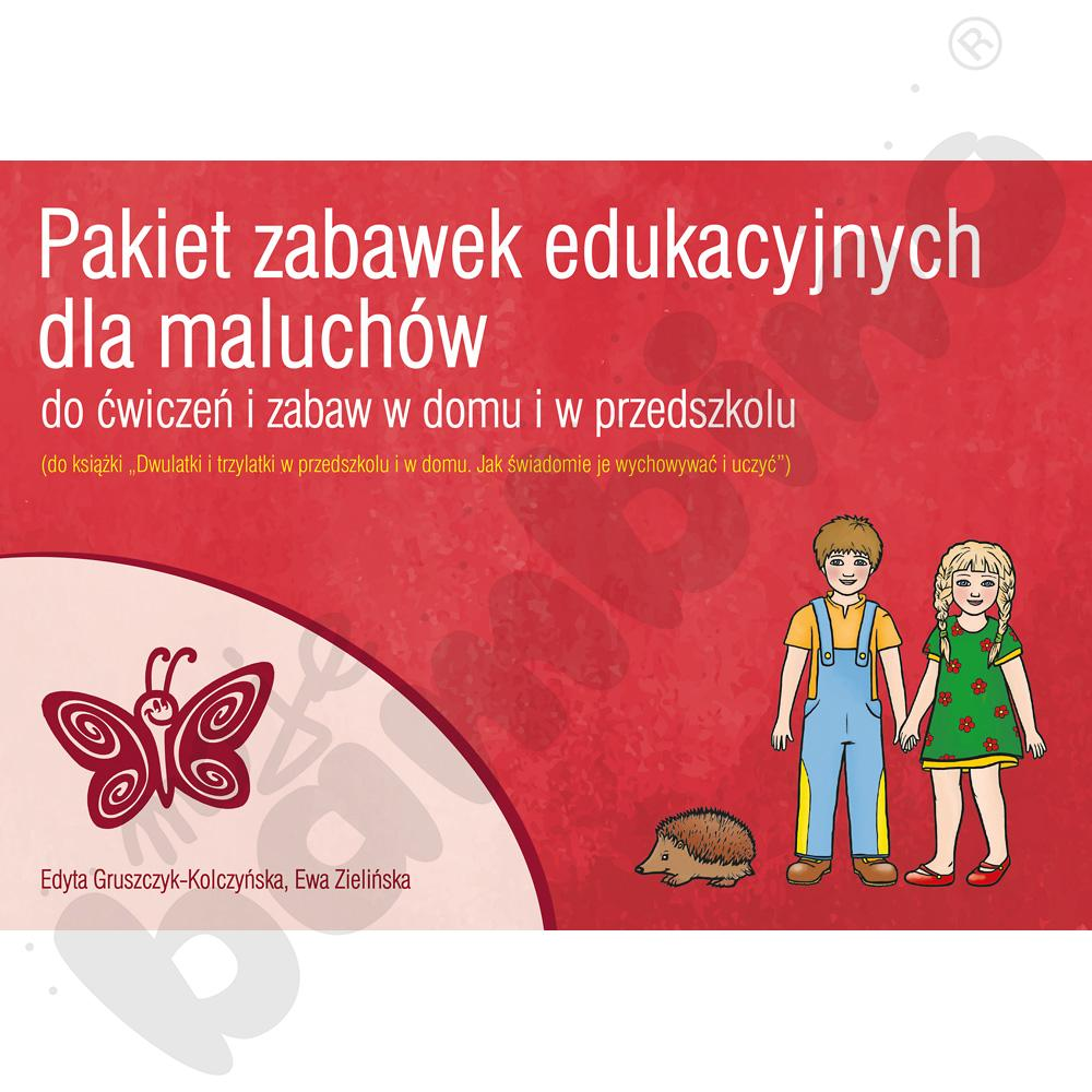 Pakiet zabawek edukacyjnych dla maluchów do ćwiczeń i zabaw rozwijających konkretne czynności umysłowe dziecka