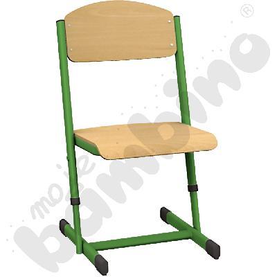 Krzesło T z regulowaną wysokością rozm. 1-2 zielone