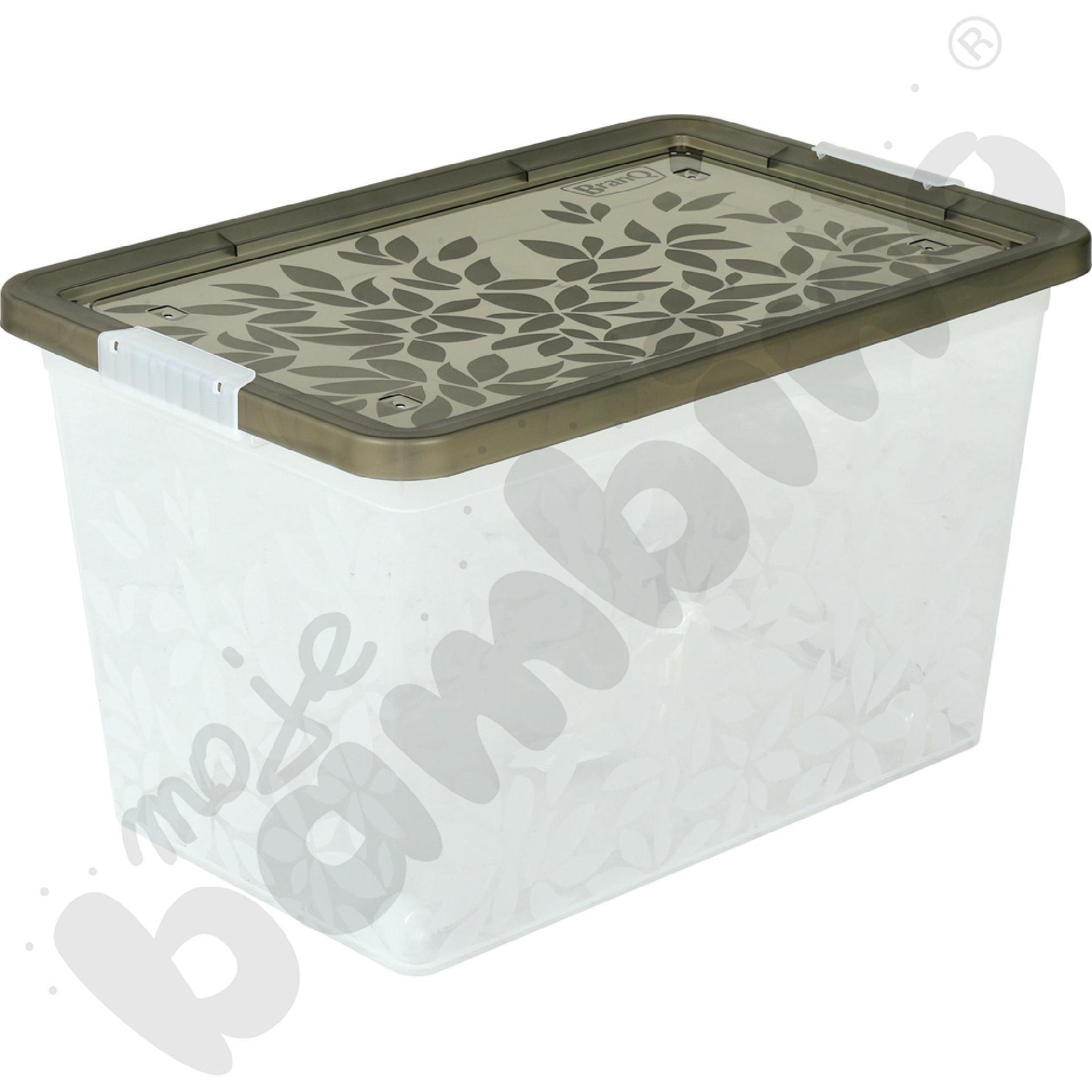 Pojemnik Jasmine na kółkach 55l - transparentny