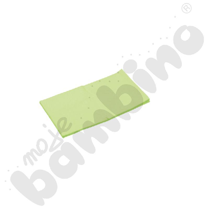 Prześcieradło z gumką (na materac) zielone wym. 140 x 70 cm