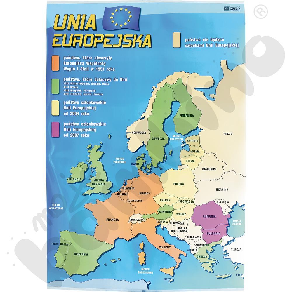 Plansza dydaktyczna - Mapa Unii Europejskiej