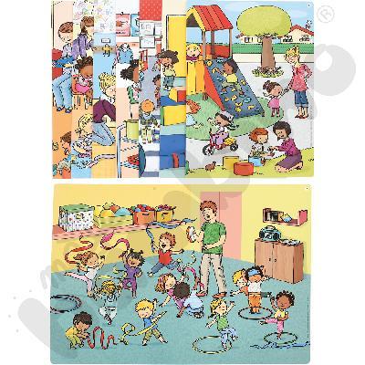Historyjki obrazkowe - poznajemy przedszkole