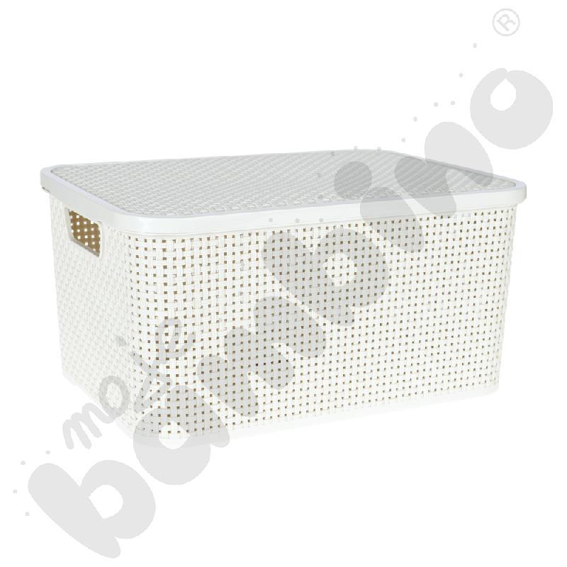 Koszyk z pokrywą 19 l - biały