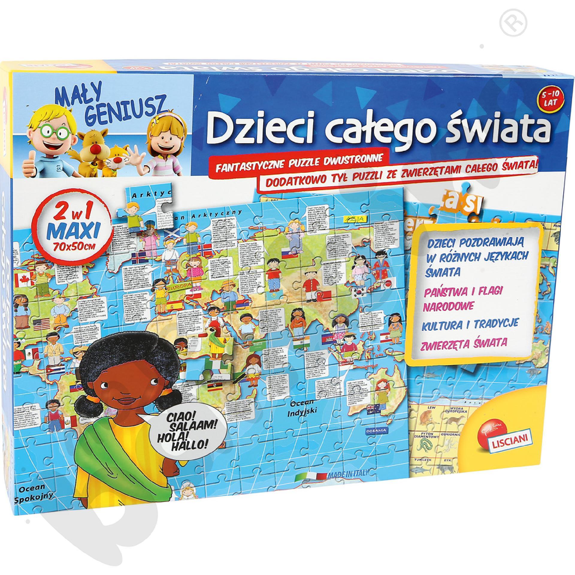 Dwustronne puzzle Dzieci świata