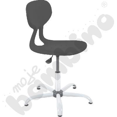 Krzesło Colores obrotowe z regulacją wysokości - szare