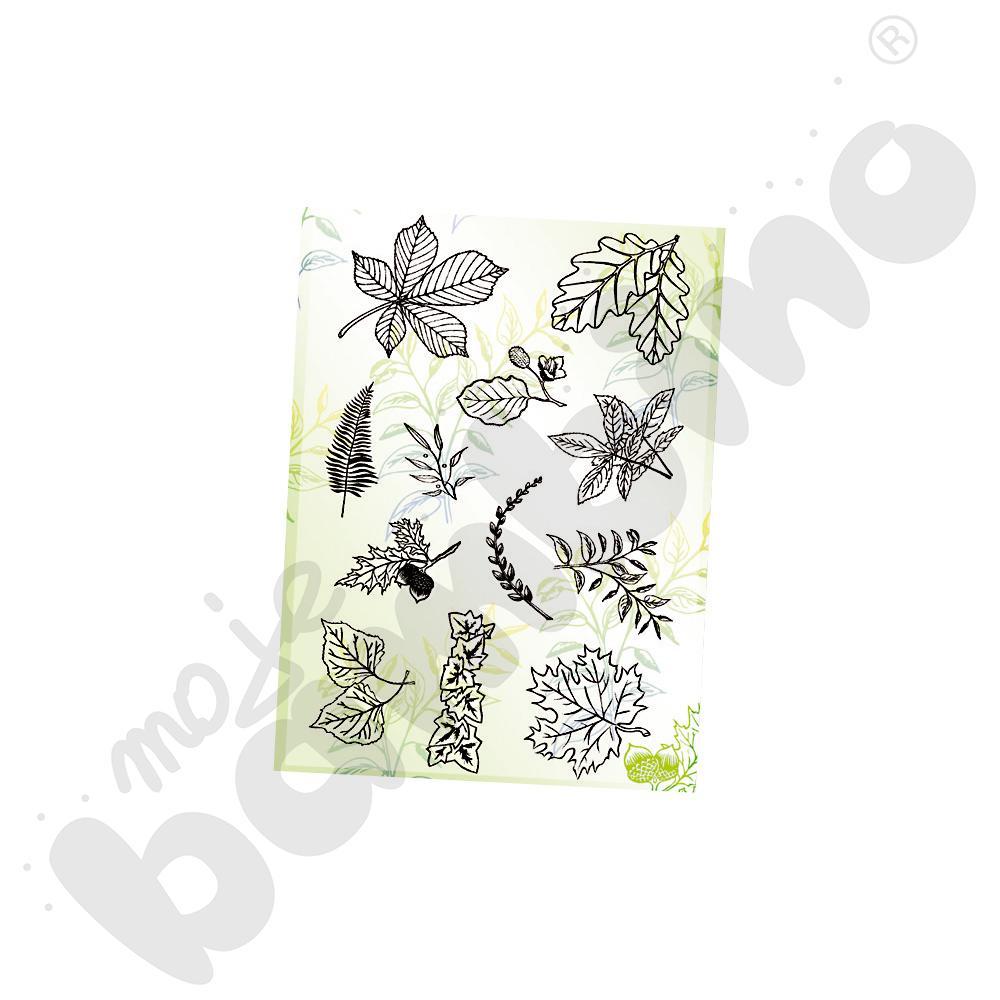 Wzory do stempli bajecznych liście