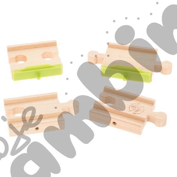 Drewniane tory - uzupełnienie 15, podwójne tory