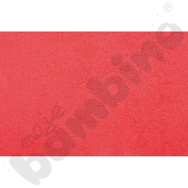Welurowe pasy ozdobne - czerwony