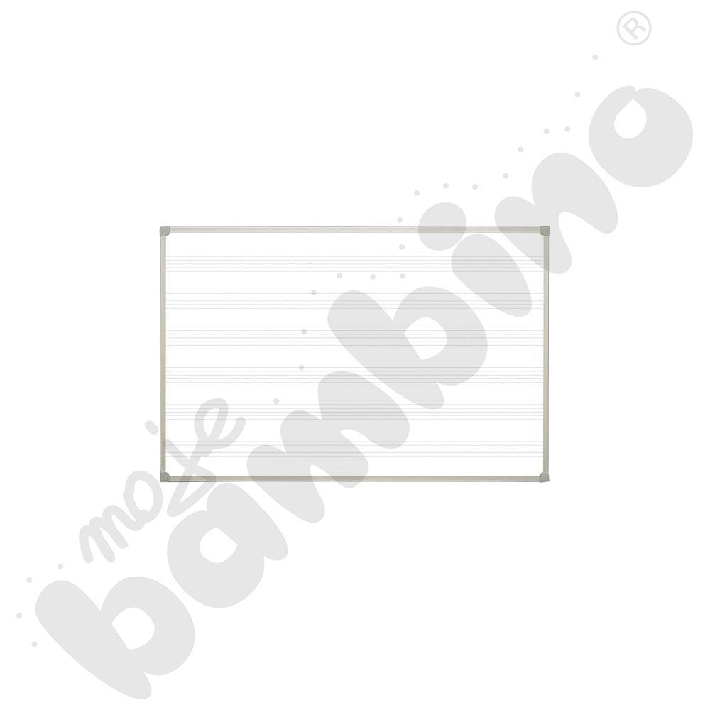 Tablica biała z nadrukiem pięciolinia