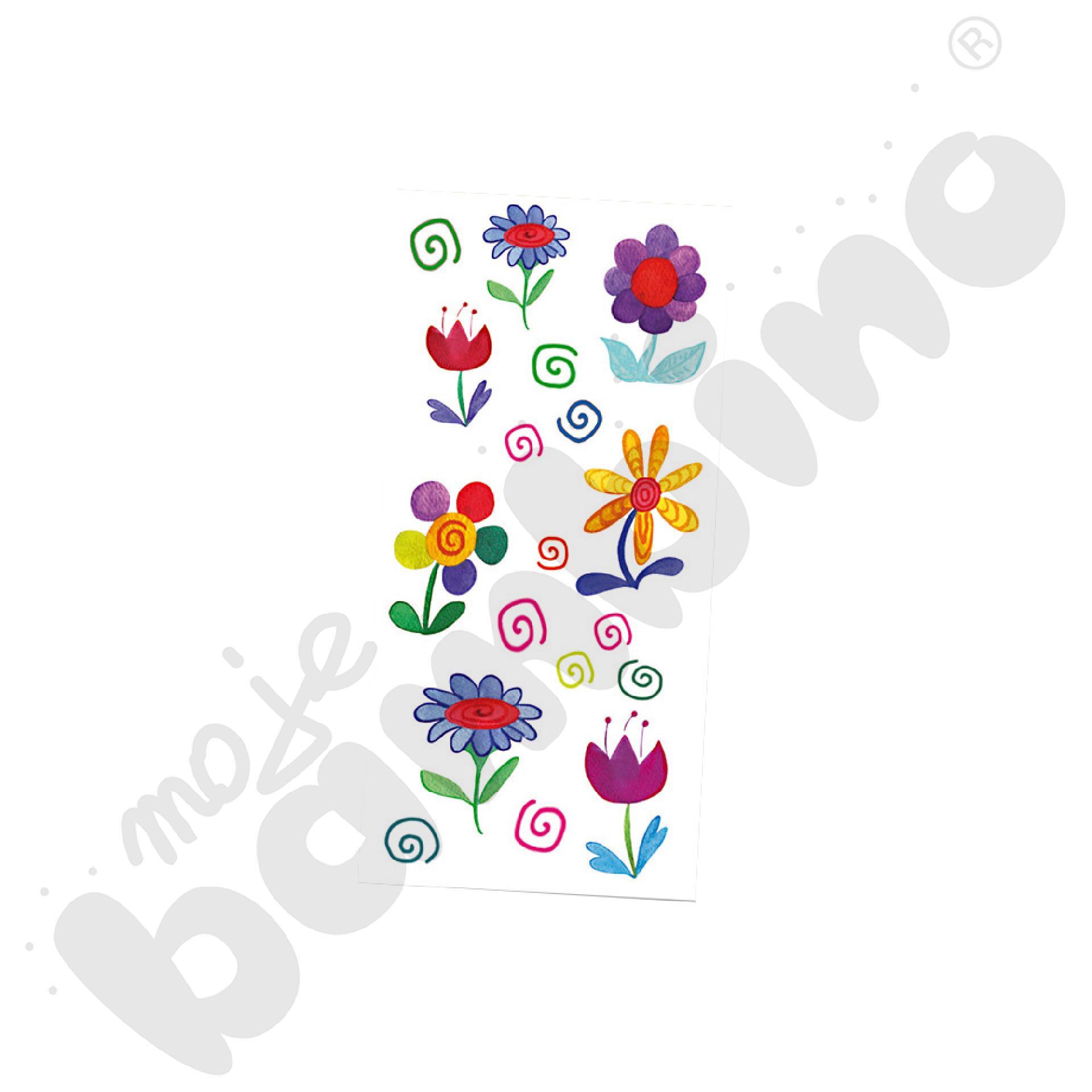 Deko naklejki na porcelanę kwiaty