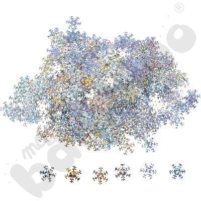 Cekiny świąteczne - płatki śniegu