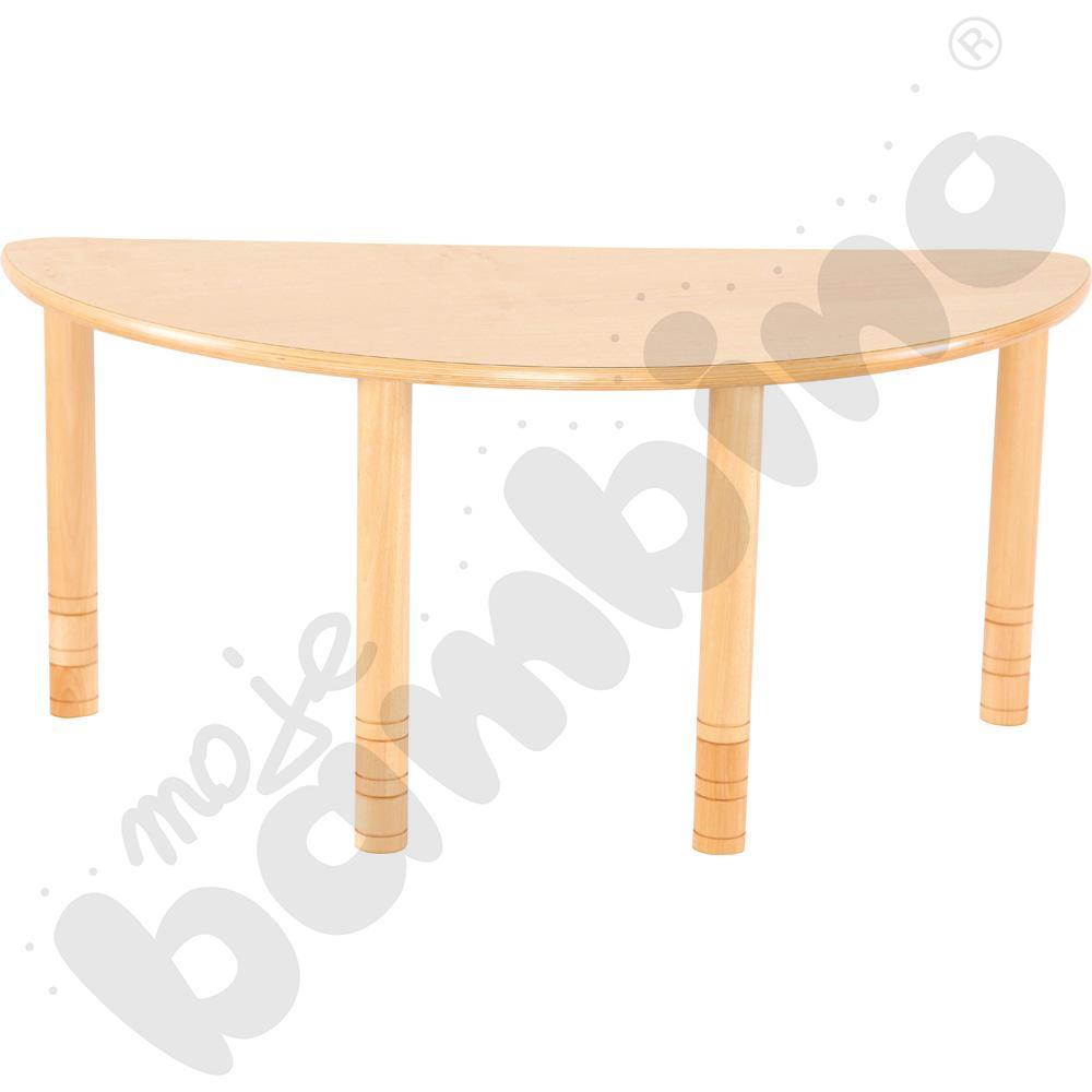 Stół Flexi półokrągły - bukowy