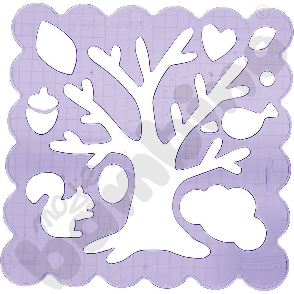 Szablon do wycinania - drzewo