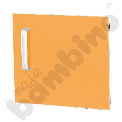 Drzwiczki do szafki M z przegrodą prawe - pomarańczowe
