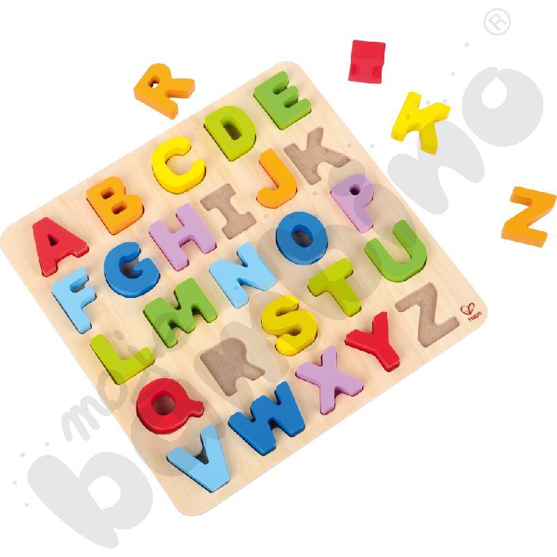 Puzzle alfabetyczne - wielkie litery