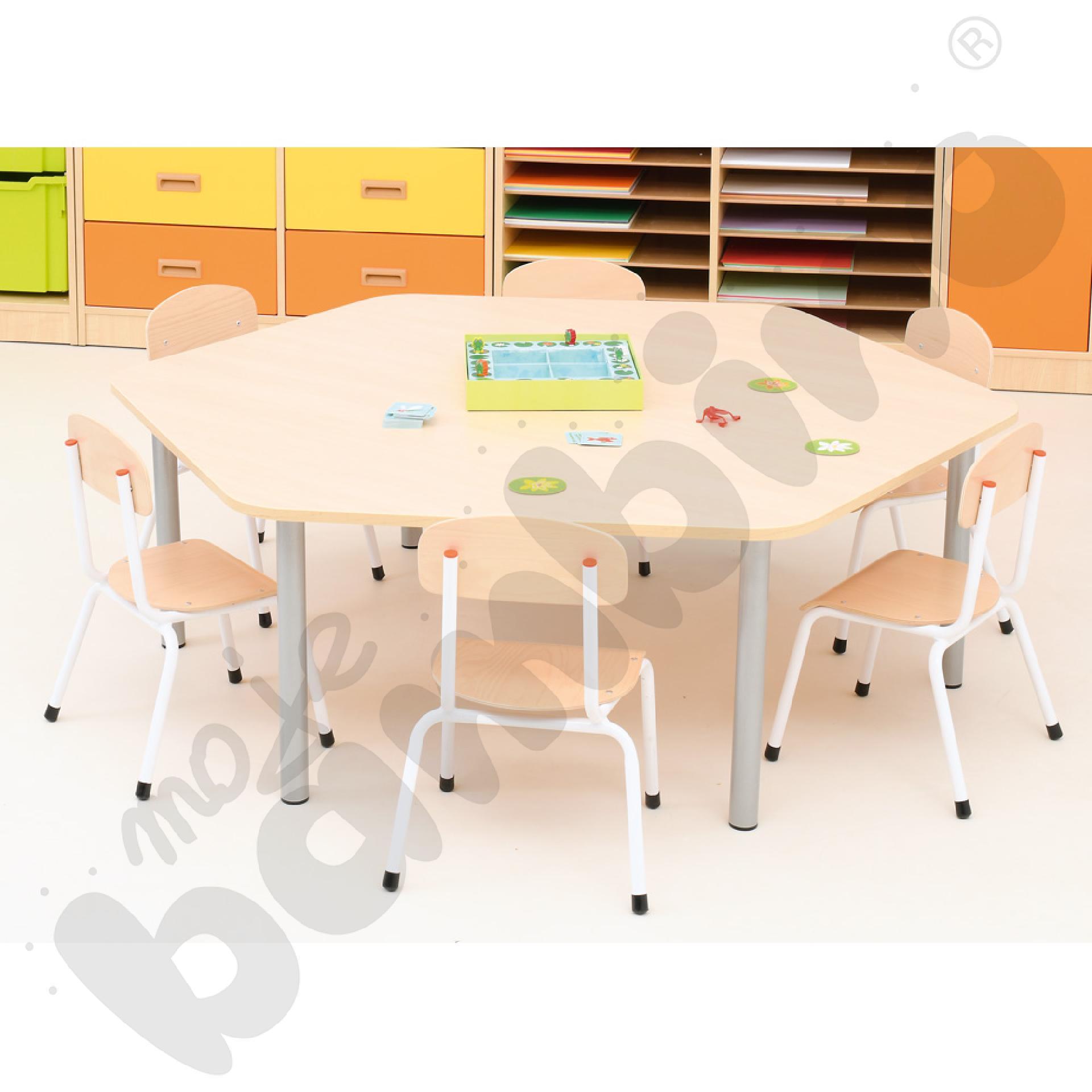 Stół Bambino sześciokątny z...
