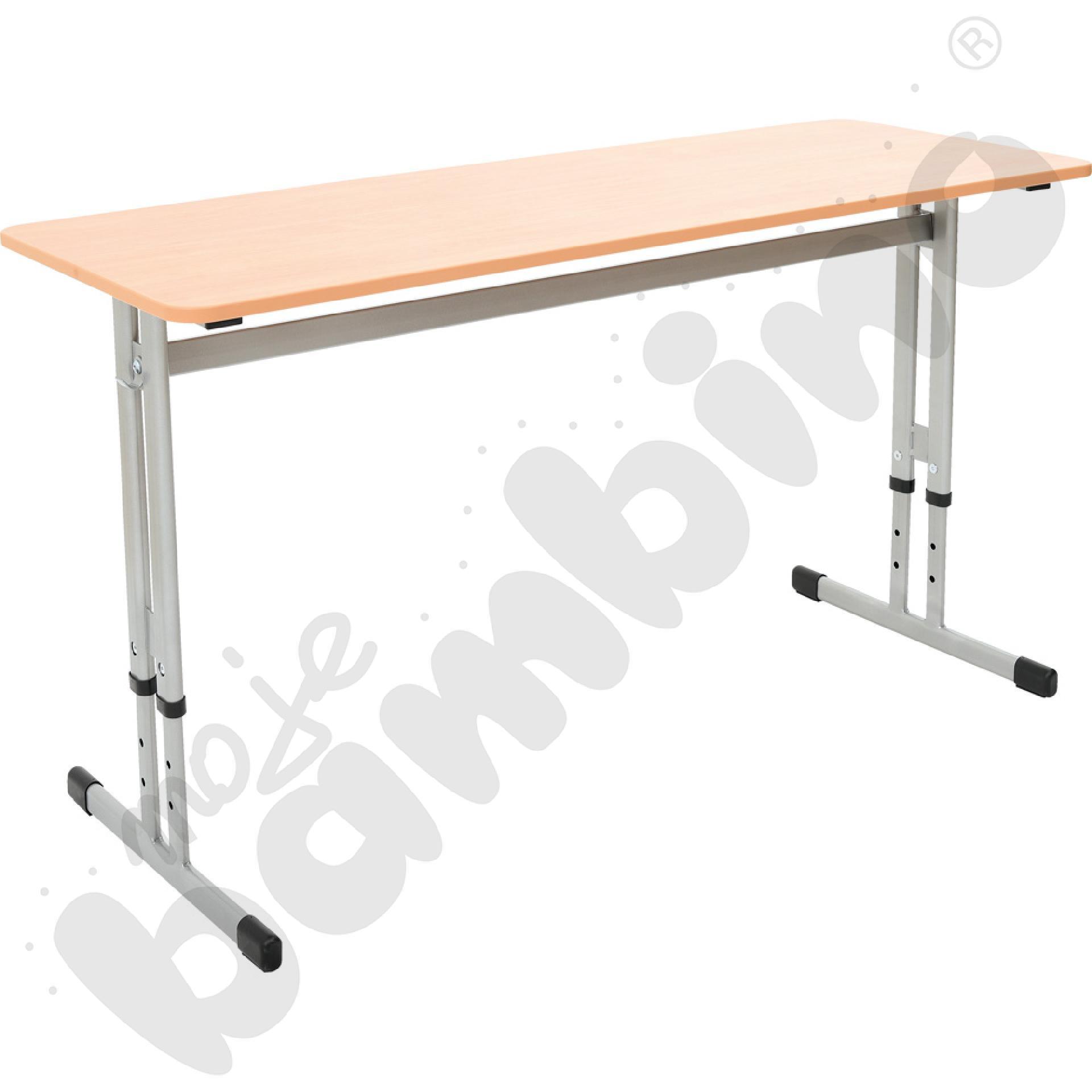 Stół IN-R PU 2-os. z reg. wys. 3-7 srebrny