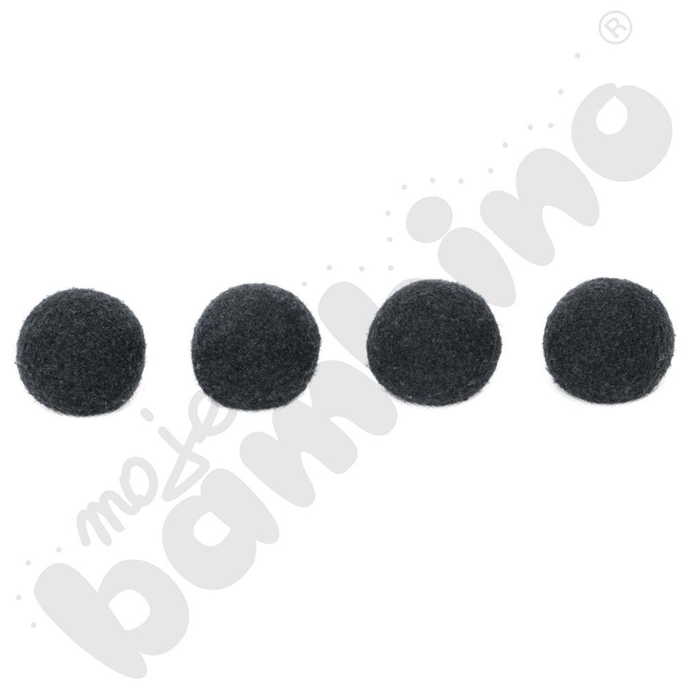 Nakładki filcowe do krzeseł - czarne, 4 szt., 16-22 mm